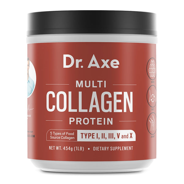 Dr. Axe - Multi Collagen Protein Powder Unflavored - 1 lb.