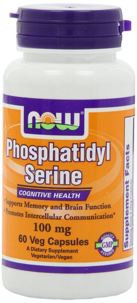 NOW Foods Phosphatidyl Serine 100 mg, 60 Veg-Caps