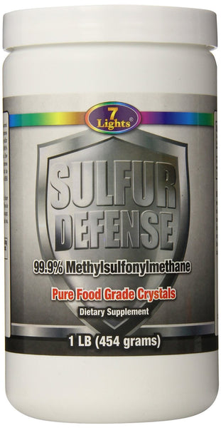 7 LIGHTS NUTRITION Sulfur Defense MSM, 1lb