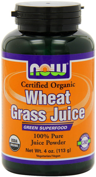 NOW Foods Certified Organic Wheat Grass Juice Powder
