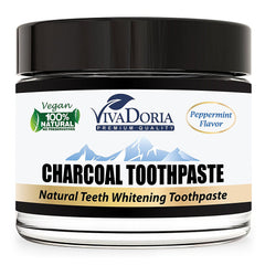 Vivadoria Activated Charcoal Natural Whitening Toothpaste 3 oz (85 g)