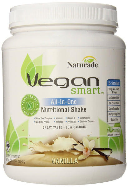 Naturade Vegansmart All-in-one Nutritional Shake, Vanilla, 1.4 lbs