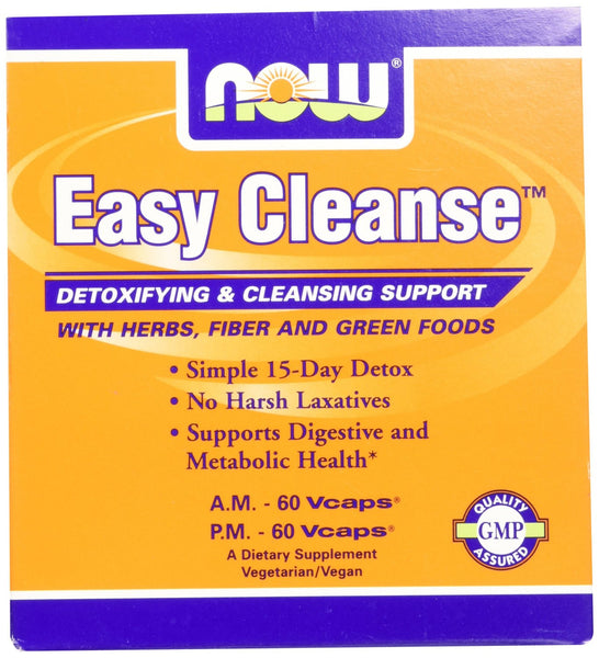 NOW Foods Easy Cleanse, 60 Vcaps AM & 60 Vcaps PM