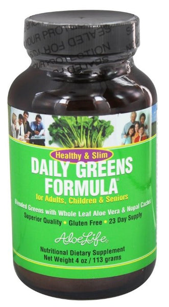 Healthy & Slim Daily Greens Powder Aloe Life 4 oz Powder