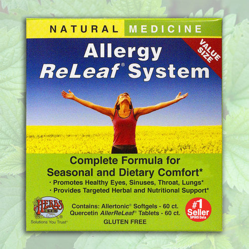 Allergy ReLeaf System - 2 Bottles (Allertonic & Quercetin) Herbs Etc 60+60 Softgels