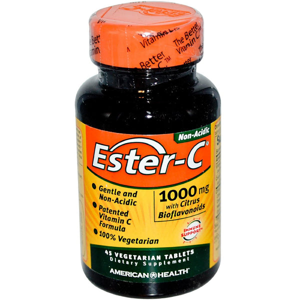 American Health Ester-C With Citrus Bioflavonoids 1000 Mg 45 Vegetarian Tablets