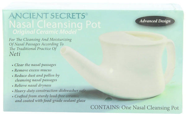 Ancient Secrets Ceramic Nasal Cleansing Pot