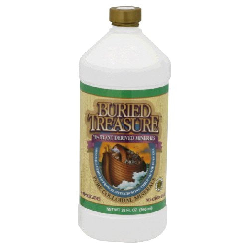 Buried Treasure 70 Plus Plant Derived Pure Colloidal Mineral Supplement, 32 Ounce