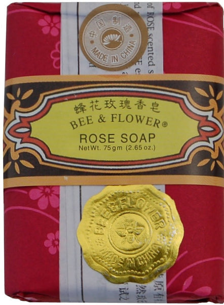 Bee and Flower Rose Soap 12 Pack Case of 2.65 Oz Bars