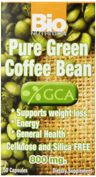 Bio Nutrition Coffee Bean Gel Caps, Pure Green, 50 Count