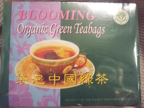 Blooming Organic Green Teabags 100 Tea Bags