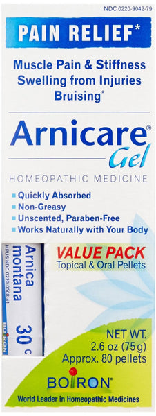 Boiron Arnicare Gel With Multi Dose (Blue) Tube for Muscle Aches, 2.6 Ounce gel
