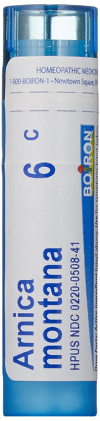 Boiron Homeopathic Medicine Arnica Montana, 6C Pellets, 80 Count Tube