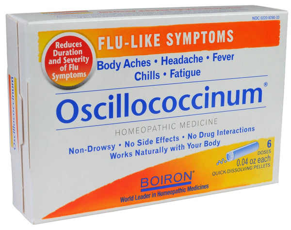Boiron Homeopathic Medicine Oscillococcinum for Flu- Box of 6x 0.04oz Doses