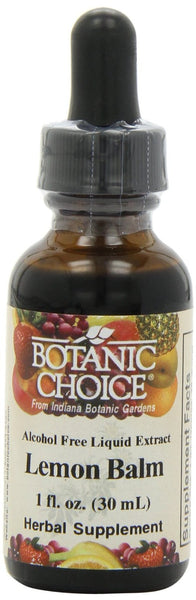 Botanic Choice Alcohol Free Liquid Extract, Lemon Balm, 1 Fluid Ounce