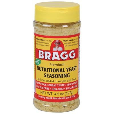 Bragg Nutritional Yeast Seasoning, Premium, 4.5 Ounce (Pack of 3)