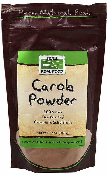 NOW Foods Carob Powder, Dry Roasted, 12 oz