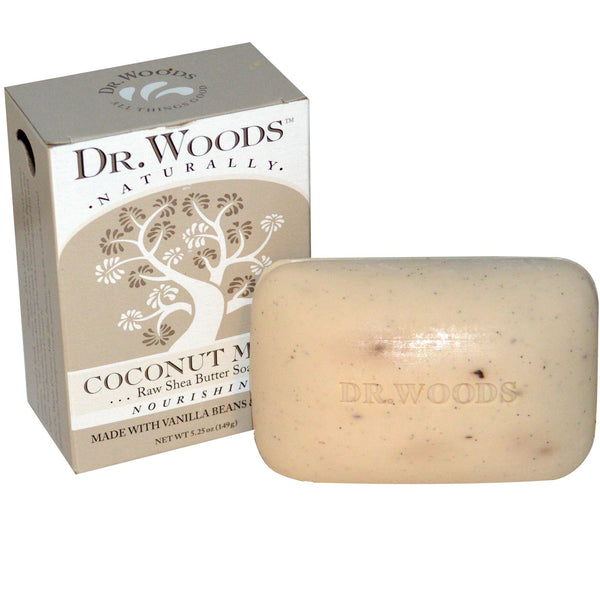 Dr. Woods Raw Shea Butter Soap, Coconut Milk, 5.25 oz