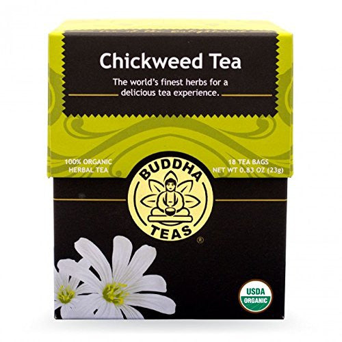 Chickweed Tea - Organic Herbs - 18 Bleach Free Tea Bags
