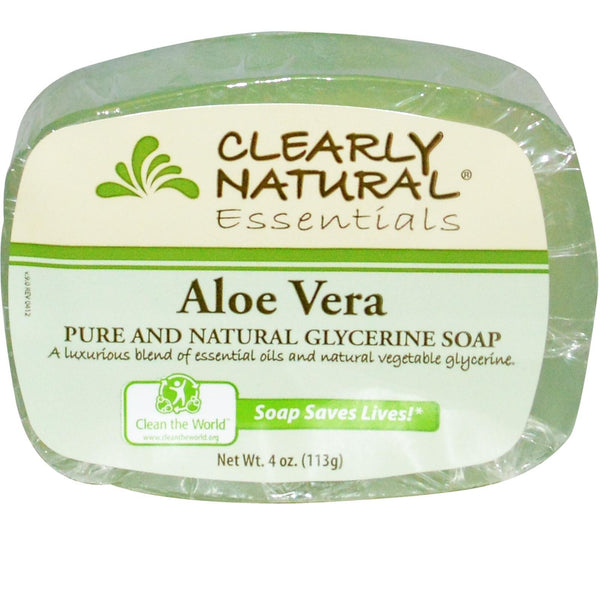 Clearly Natural Soap Aloe Vera 4 Oz