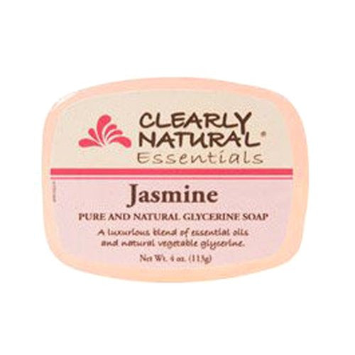 Clearly Natural Glycerin Bar Soap, Jasmine, 4 Ounce