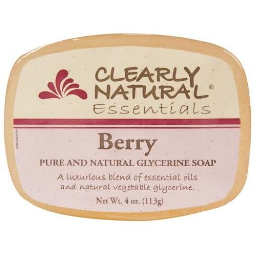 Clearly Natural Glycerine Berry Bar Soap, 4 Ounce