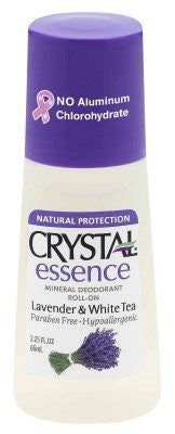 Crystal Body Deodorant Mineral Deodorant Roll On Lavender and White Tea - 2.25 Oz