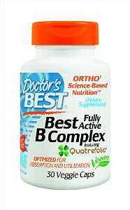 Doctor's Best Fully Active B Complex Nutritional Supplement, 30 Count