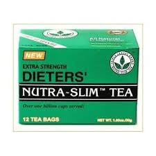 Extra Strength Dieters' Nutra-Slim Tea Triple Leaves Brand - 12 Tea Bags