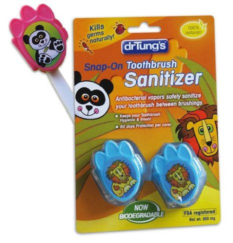 Dr Tung's Children Snap-on Portable Antibacterial Toothbrush Sanitizer