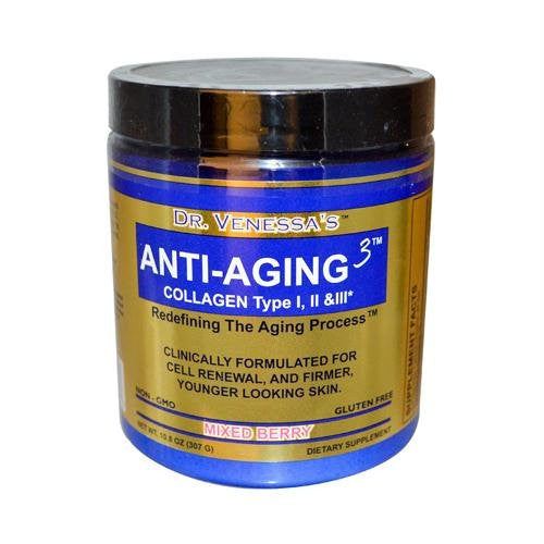 Dr. Venessa's Anti-Aging 3, Collagen Drink Powder