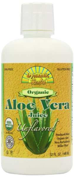 Dynamic Health Organic Certified Aloe Vera Juice, Unflavored,, 32-Ounce
