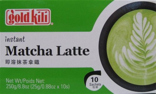 Gold Kili Instant Matcha Latte, Pack of 6
