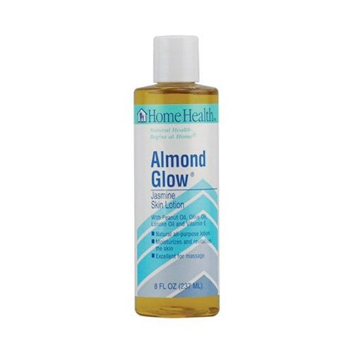 Home Health Almond Glow Lotion, Jasmine, 8 Ounce