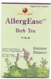 Health King  Health King Herb Tea, AllergEase, Teabags, 20-Count Box (Pack of 4)