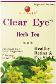 Health King  Clear Eye Herb Tea, Teabags, 20 Count Box