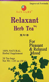 Health King Medicinal Teas, Relaxant Bag, 20 Count