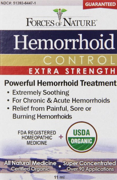 Forces of Nature Hemorrhoid Extra Strength, 11 ml