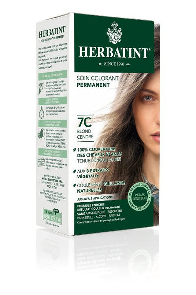 Herbatint Haircolor Gel, 7C Ash Blonde, 4.56 Fluid Ounce