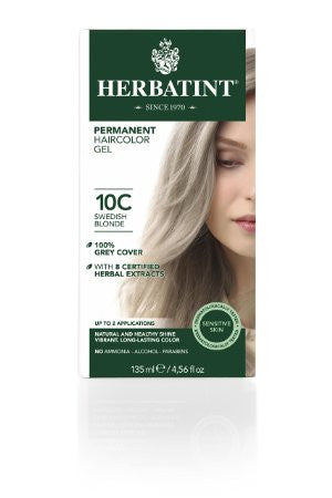 Herbatint Hair Color, 10C Swedish Blonde, 4 Fluid Ounce