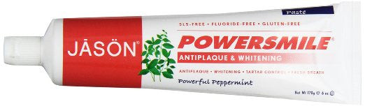 JASON Natural Cosmetics Powersmile Toothpaste, Peppermint, 6 Ounces