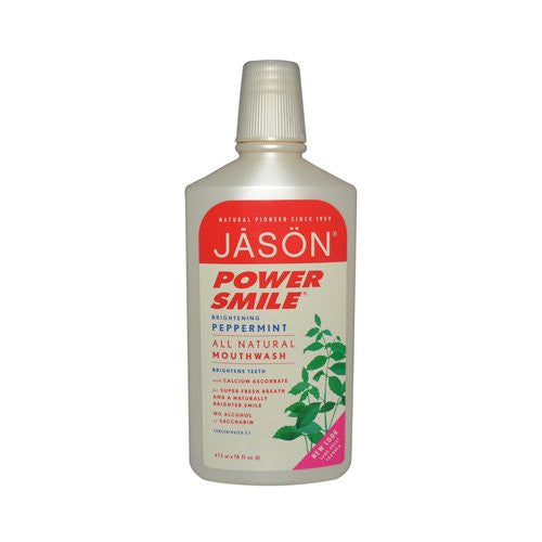 Jason Natural Products - Mouthwash Power Smile Super Refreshing Peppermint - 16 oz