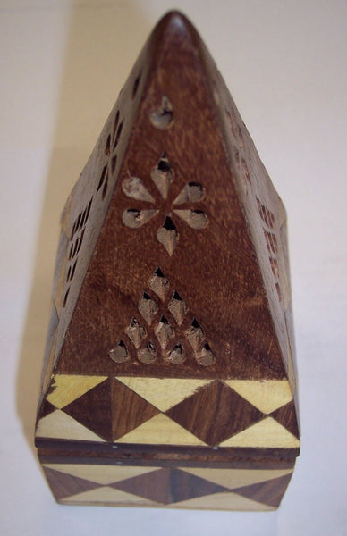 "6"" Joint Wood Pyramid Incense Holder"