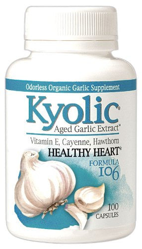 Kyolic Aged Garlic Extract Healthy Heart Formula 106 Capsules, 100 Count