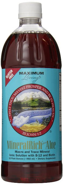 Maximum Living MineralRich Plus Aloe, 32 fluid ounces