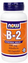 NOW Foods Vitamin B-2 (riboflavin), 100 Capsules / 100mg