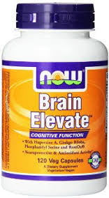 NOW Foods Brain Elevate Formula Veg Capsules, 120 Count