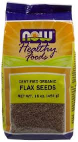 NOW Foods Real Food Certified Organic Flax Seeds, 16 oz (2 Pack)