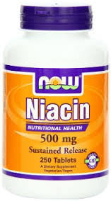 Now Foods Niacin 500mg,  250 Tablets