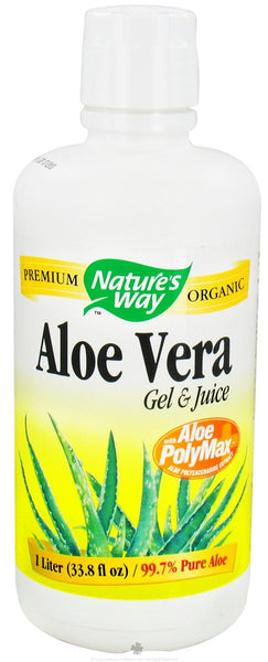 Nature's Way Aloe Vera Gel And Juice Organic 1 Liter